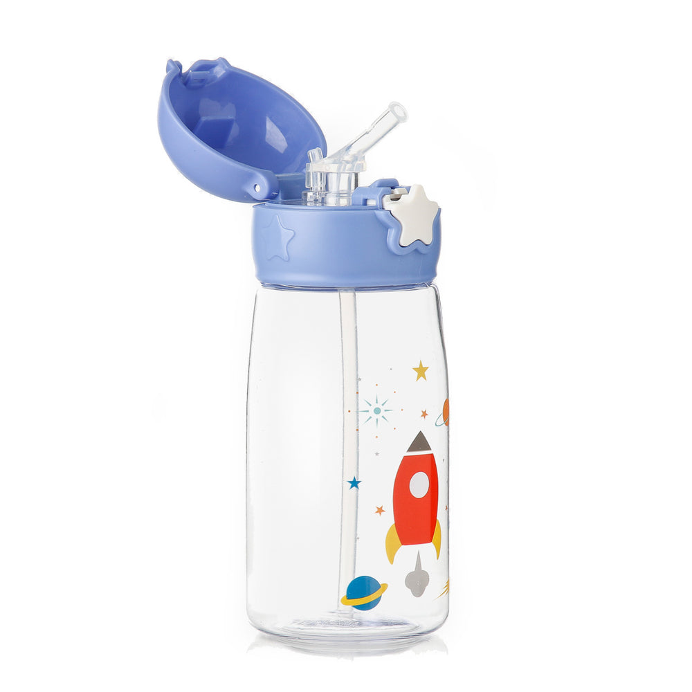 Giggles Space Star Tumbler with Straw, Blue