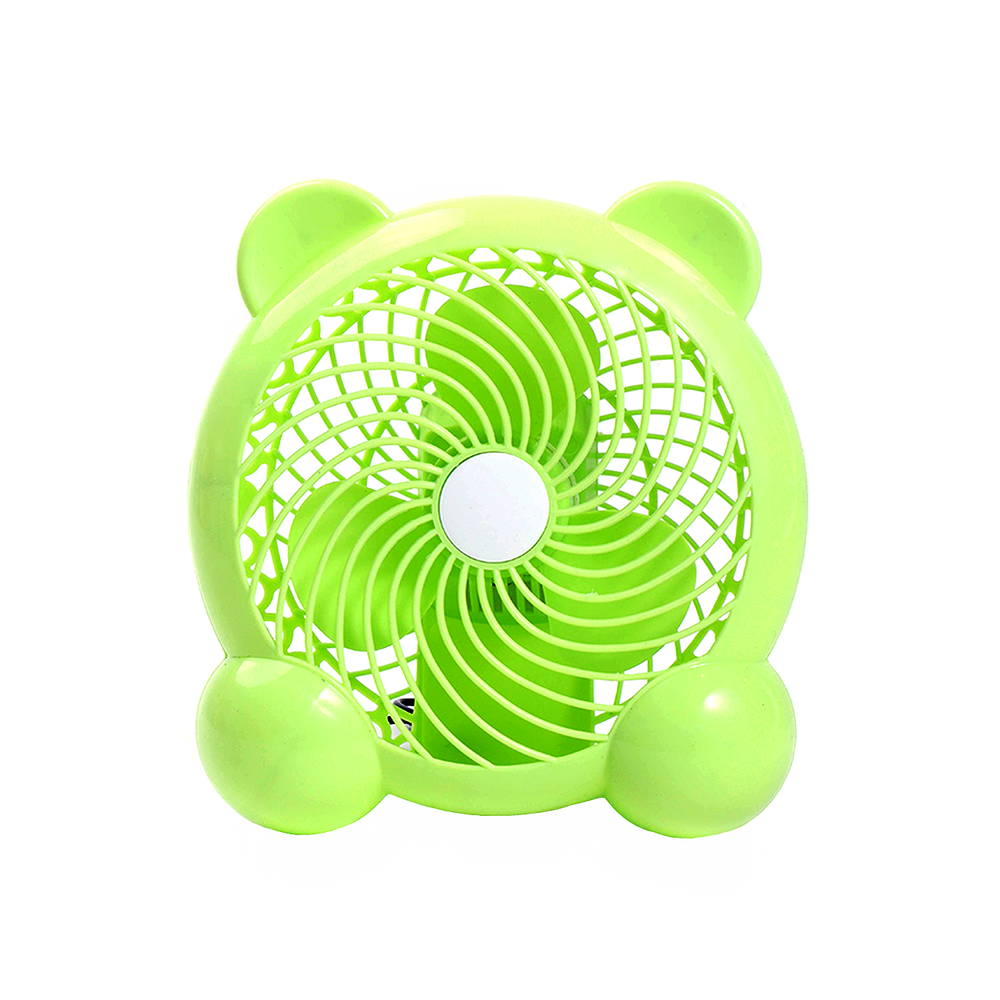 Bear Design Usb Fan, Lime Green