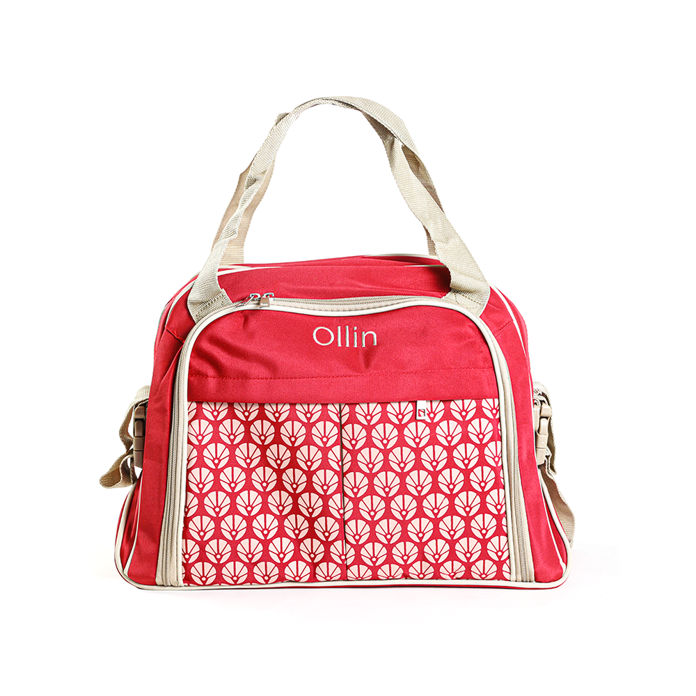 Load image into Gallery viewer, Ollin Two-way Handle Diaper bag, Red