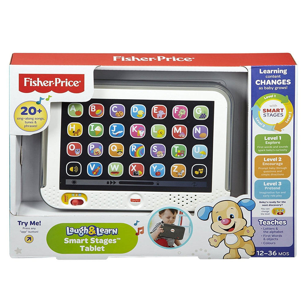 Fisher Price Laugh & Learn Smart Stages Tablet Grey