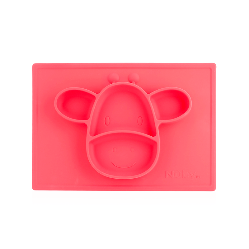 Nuby Sure Grip Silicone Animal Mat - Red