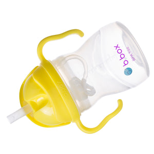 B.BOX Sippy Cup with Innovative Weighted Straw-Lemon Sherbert