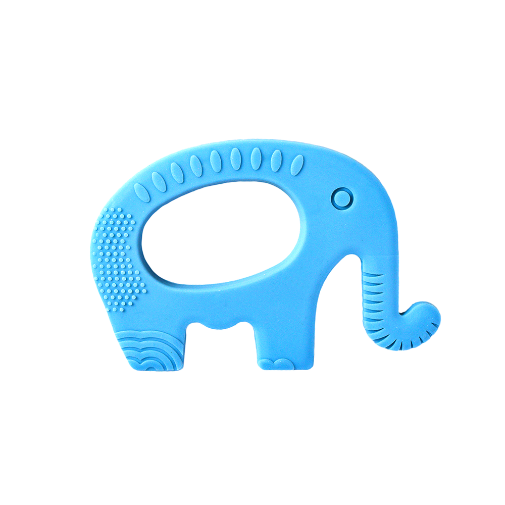 Mom & Baby Silicone Baby Teether, Elephant