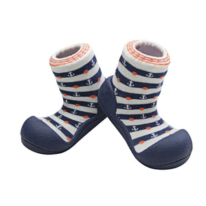 Attipas Marine Navy Baby Walker Shoes