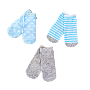 Tip Toe 3-Pack, Blue & Grey