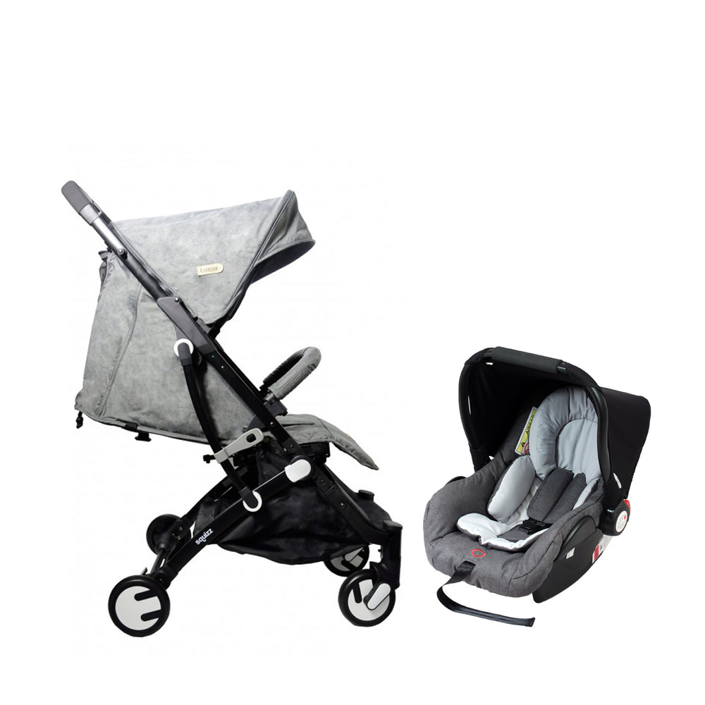 Looping Squizz 3.0 Travel System - Grey/Black Frame