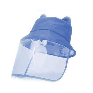 2D Bucket Hat Face Shield, Blue