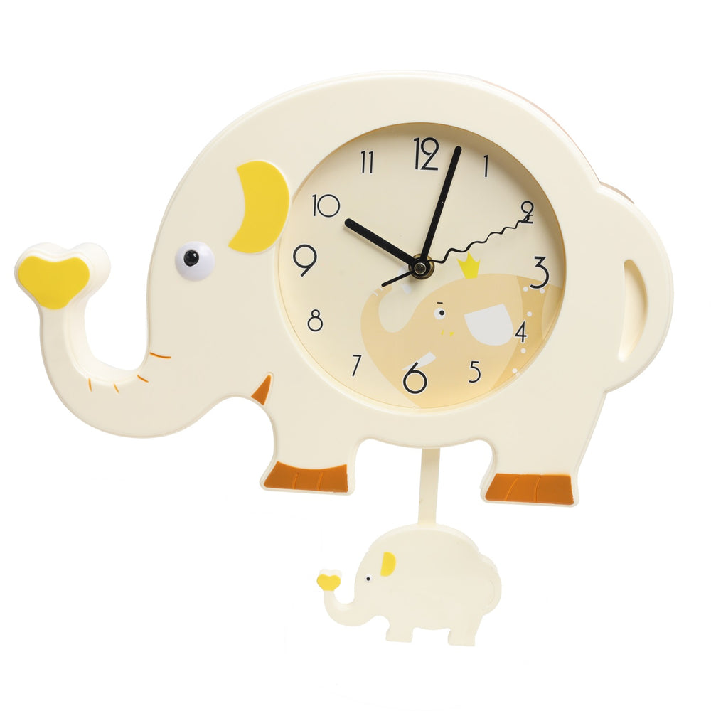Load image into Gallery viewer, Beige Elephant Wall Clock