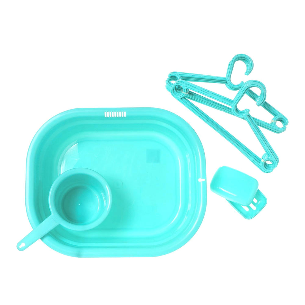 Basin, Dipper, Soap Case & Hangers Set
