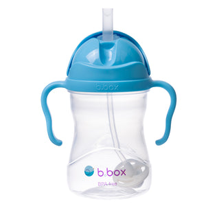 B.BOX Sippy Cup with Innovative Weighted Straw-Blueberry