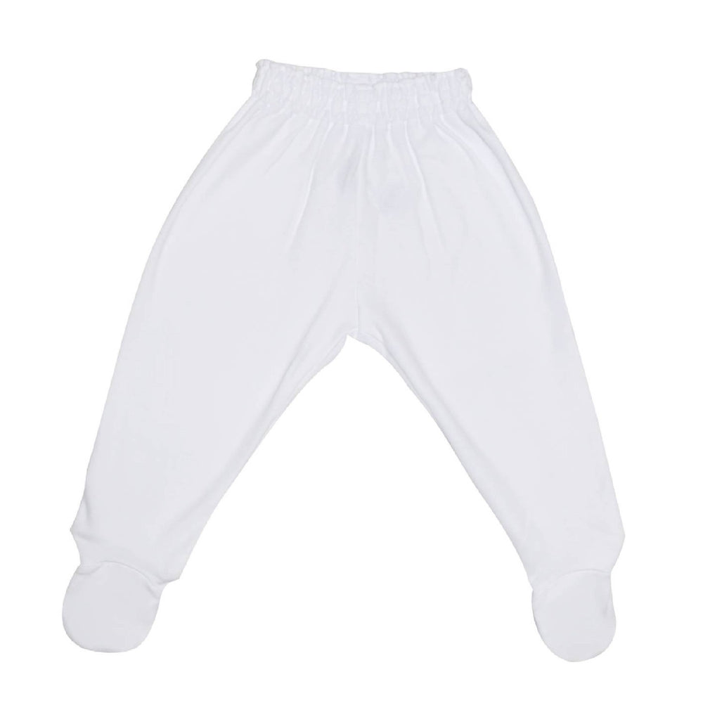 Enfant Pants with Footsie, White
