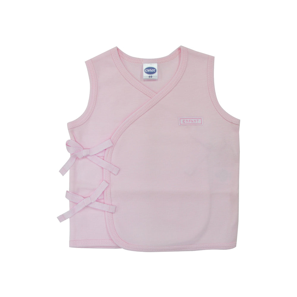 Enfant Sleeveless Tie-Side Shirt, Pink
