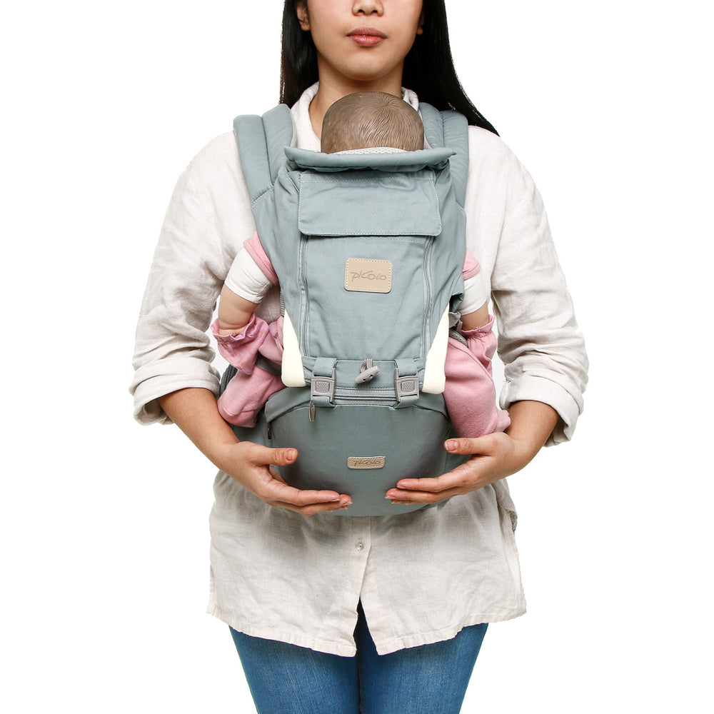 Picolo 6-Way Mesh Panel Hip Seat Baby Carrier, Blue