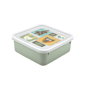 Load image into Gallery viewer, Nanny Multi-Compartment Lunch Box 870ml - Woodland