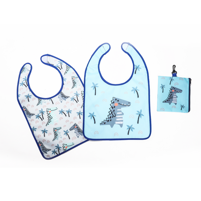 Mom & Baby 2-Pack Travel Bibs with Pouch
