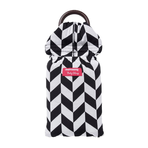 Mamaway Black & White Herringbone Baby ring Sling