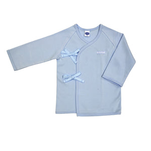 Enfant Long Sleeves Tie-Side Shirt, Blue