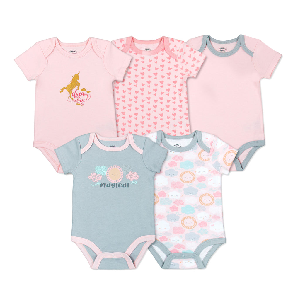Mother's Choice 5 Pack Bodysuits, Beautiful In Every Way