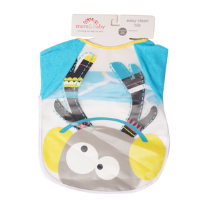 Mom & Baby 1-Piece Bib with Sleeves - Blue