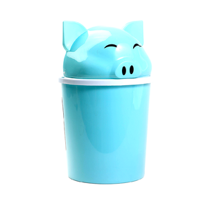 Load image into Gallery viewer, Pig Trashbin, Blue