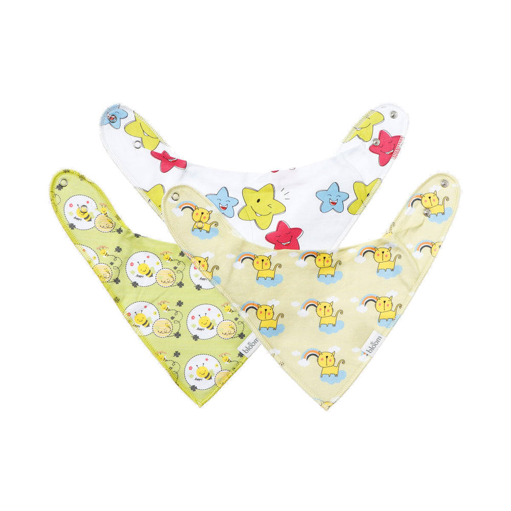 Bloom 3-Piece Bandana Drool Bibs Stars