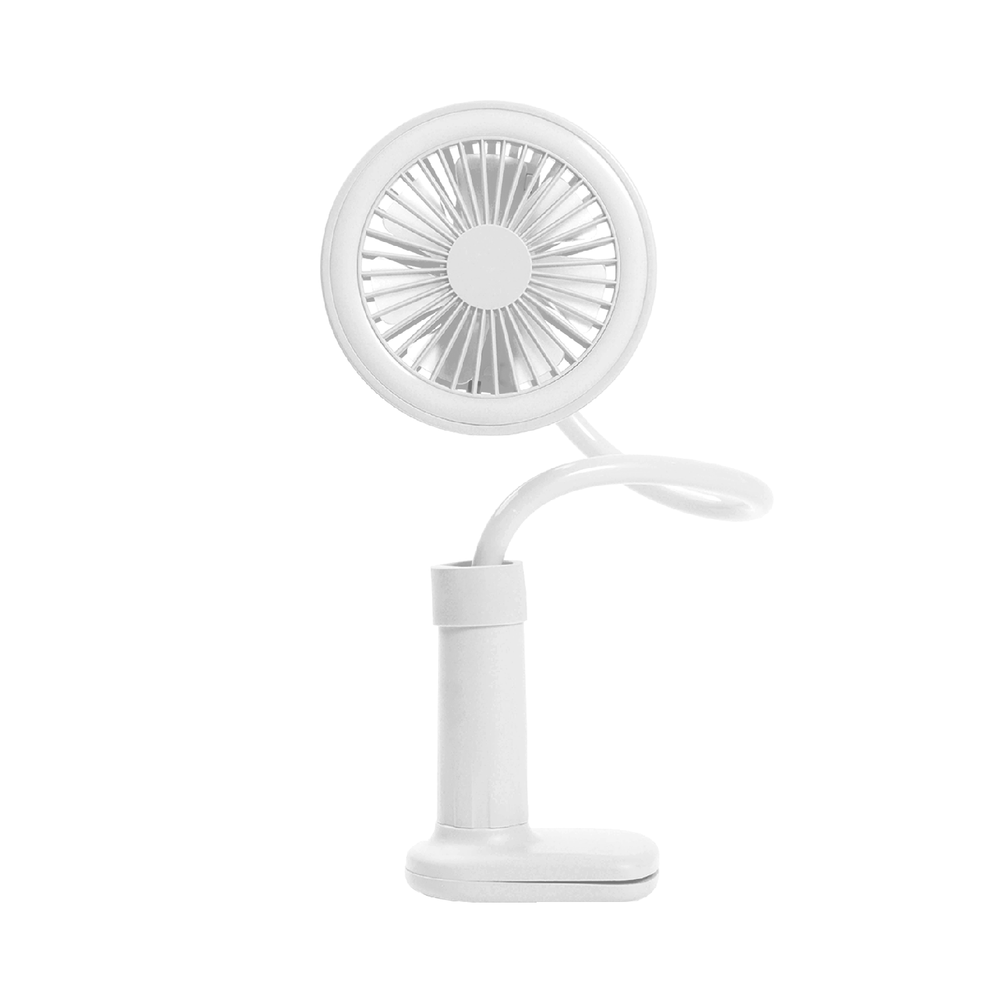Multi-Use Clip-On Rechargeable Fan With Usb Connector, Blue