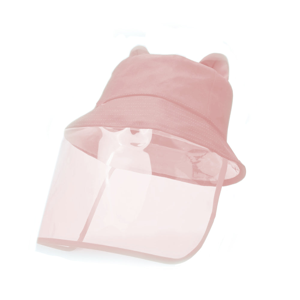2D Bucket Hat Face Shield, Pink