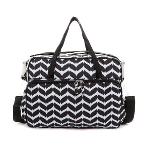 Ollin Geometic Printed Diaper Bag with Changing Pad