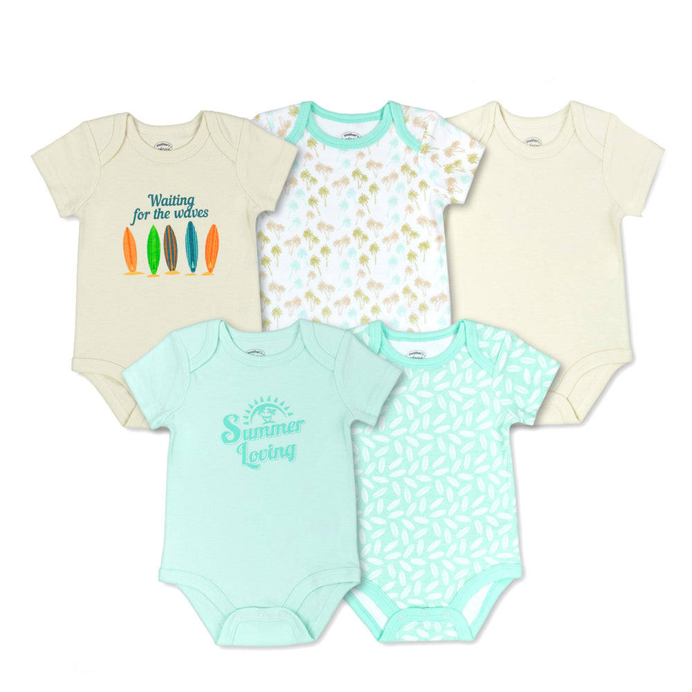 Mother's Choice 5 Pack Bodysuits, Summer Loving