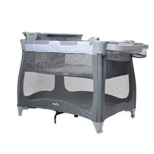Load image into Gallery viewer, Evenflo Vill4 4in1 Playard, Chambray/Navy