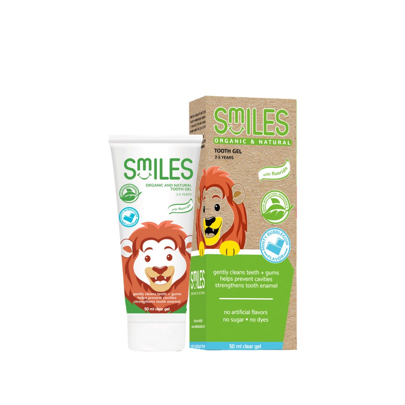 Smiles Organic & Natural Toothgel Minty Bubblegum 50ml
