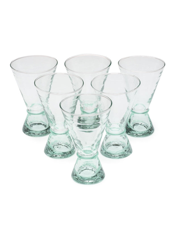 Large Handblown Atlas Glass (Set of 6)