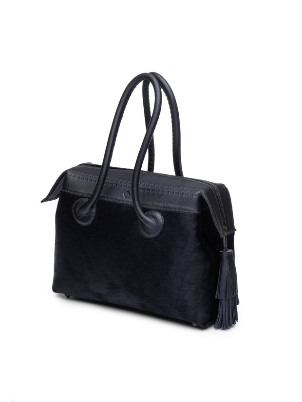 Black Pony Petit Handbag