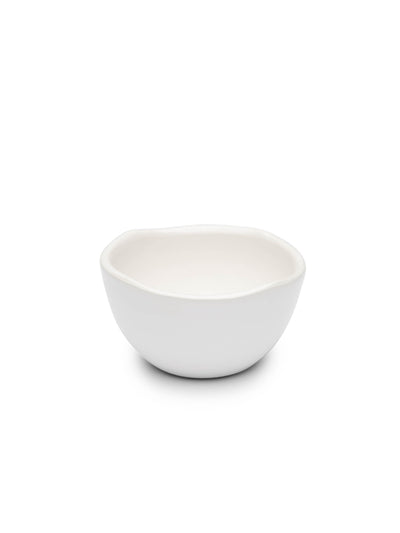 Mini White Glazed Bowl