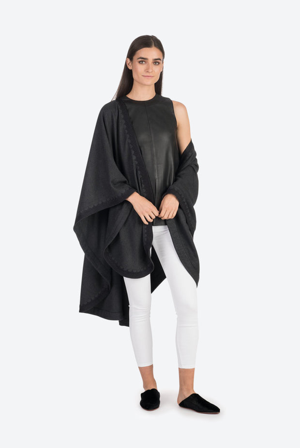 Black Leather Tunic Top