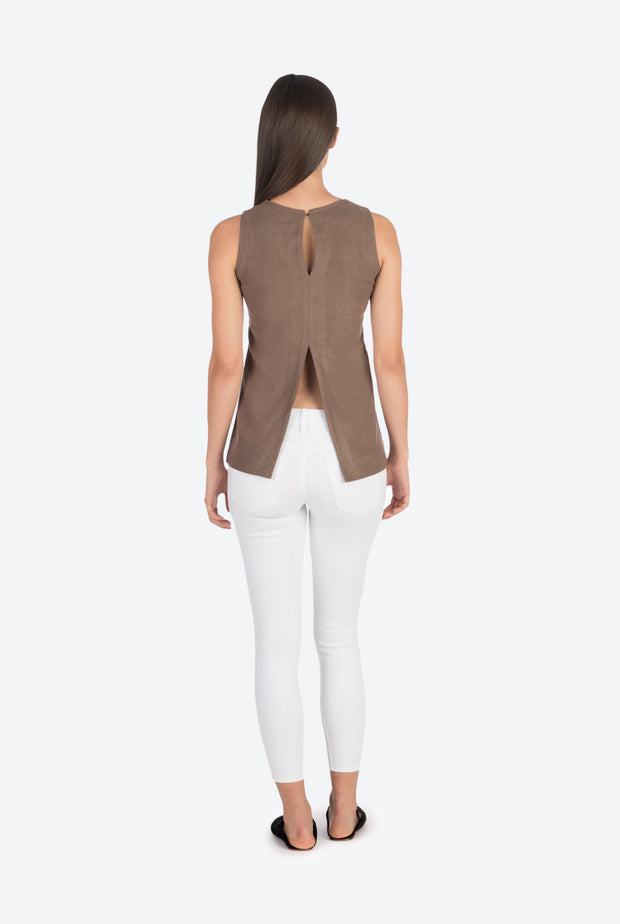 Taupe Moroccan Cashmere Tunic Top