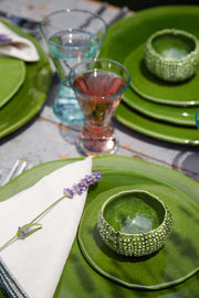 Green Glazed Side Plate