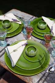 Green Glazed Salad Plate
