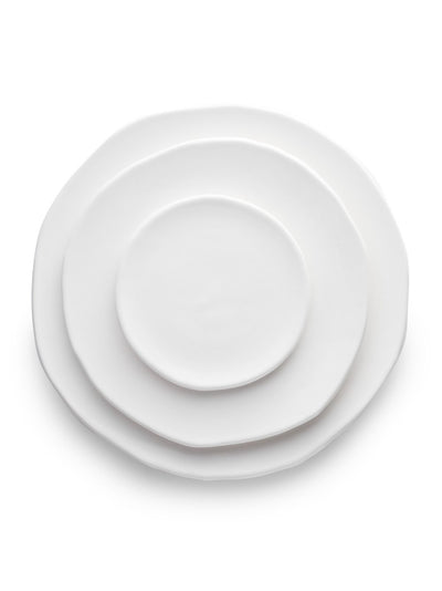 White Glazed Plates (Set of 3)