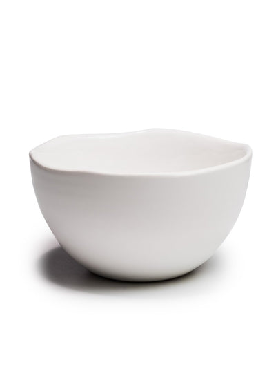 Large White Glazed Bowl