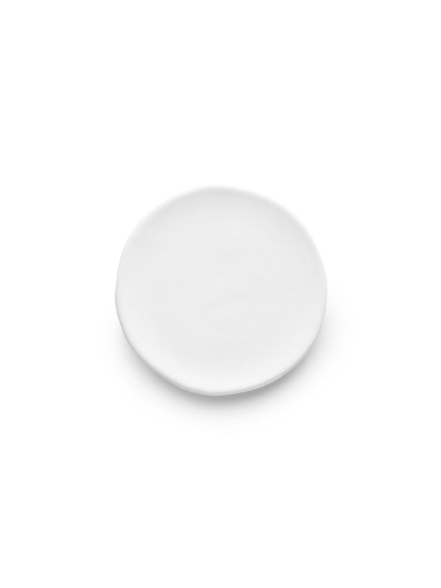 White Glazed Side Plate