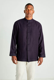 Midnight Blue Moroccan Cashmere Shirt