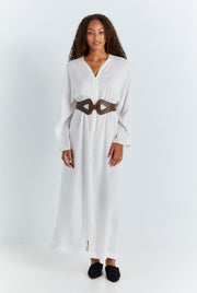 White Fez Dress
