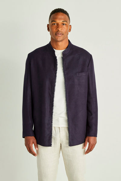Midnight Blue Moroccan Cashmere Jacket
