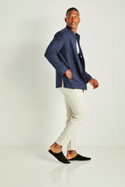 Prussian Blue Wool Jacket