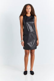 Black Leather Tunic Dress