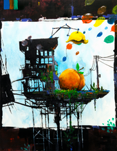 "Load image into Gallery viewer, Adam O'Day // ""Balloon Factory"" Original Painting [Pick up in-person]"