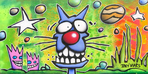Green Sky Blue Cat
