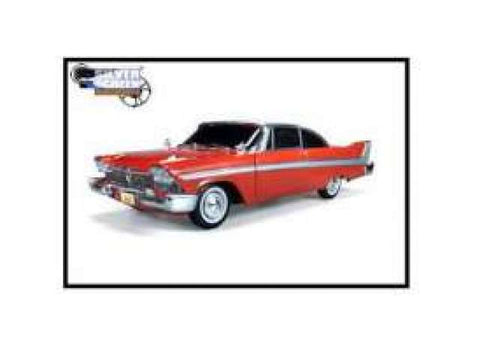 1958 Plymouth Fury *Christine*, with working lights, red with white roof.