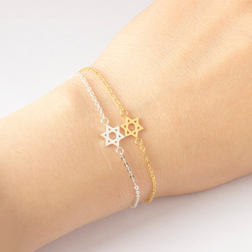 SparkleSisters Star Of David Charm Bracelets